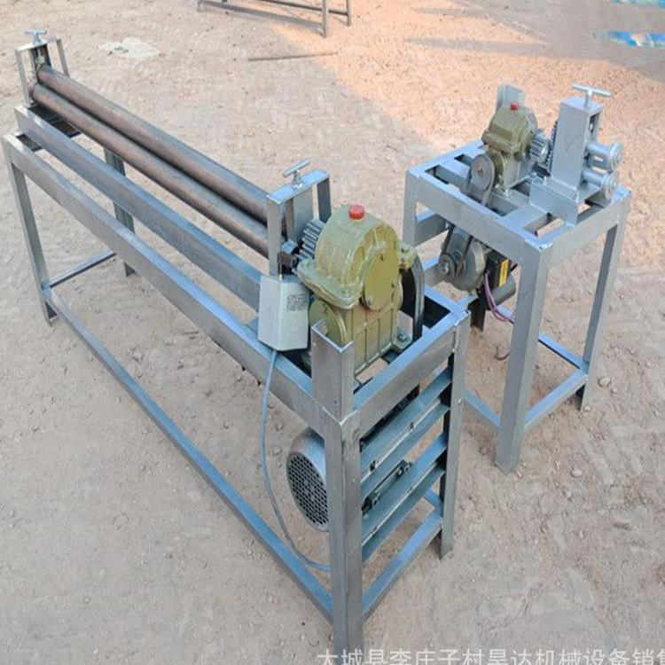 电动卷圆机手动白铁皮保温压边起线机小型卷板压筋机 卷管咬口机