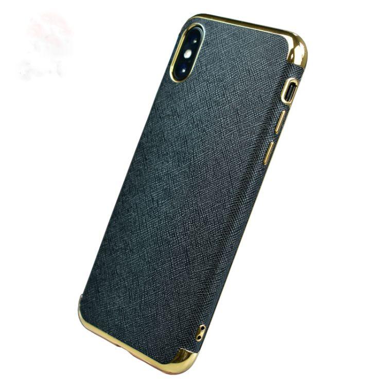新款iphonex手机皮套电镀TPU贴皮手机套苹果6皮套厂家iphone7皮套