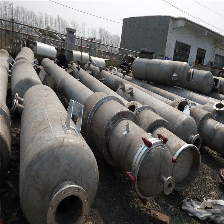 二手316L三效强制循环蒸发器价格 二手2吨三效浓缩蒸发器厂家