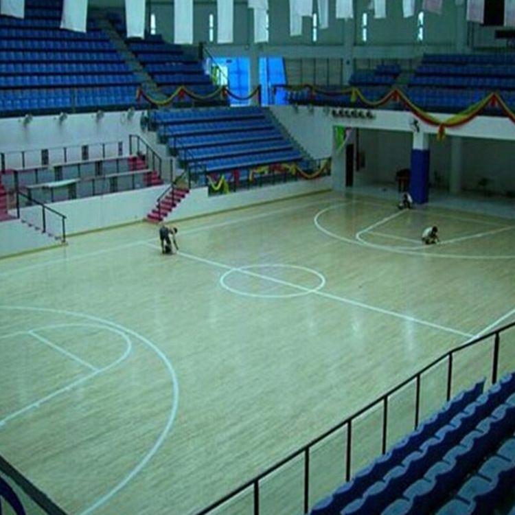 运动木地板厂家施工定制 篮球馆比赛运动实木地板