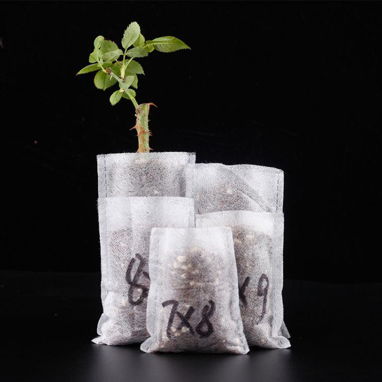 厂家直销 无纺布可降解育苗袋  环保育苗袋 花圃苗圃袋子现货批发