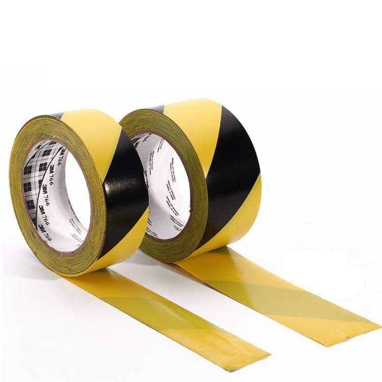 3M766黑黄地板胶带警示斑马标示线地板胶耐磨防水隔离胶带33米