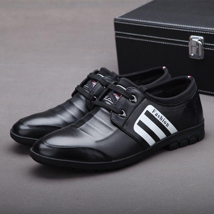 男鞋真皮新品爆款除臭舒适单鞋男休闲系带里外全皮男士皮鞋透气