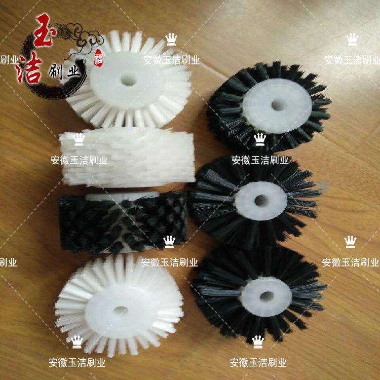 尼龙丝毛刷轮  工业自动化毛刷 定型机毛刷轮 圆刷子 工厂定制