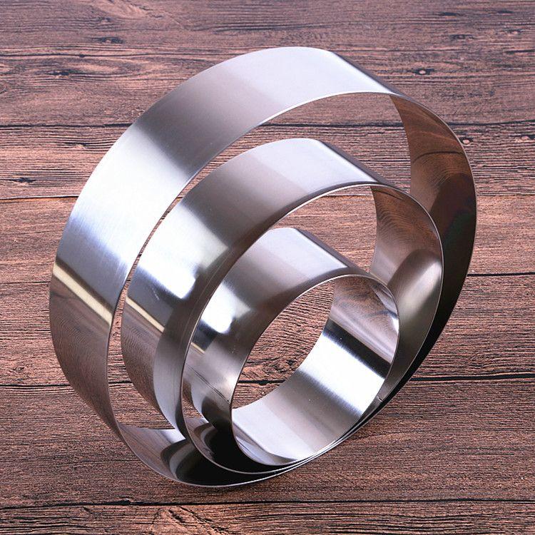 厂家生产不锈钢蛋糕模具圆形慕斯圈346810寸DIY烘焙工具一件代发