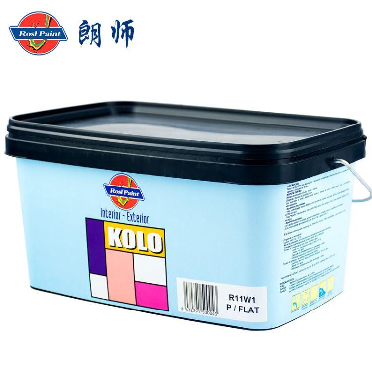 进口西班牙防水乳胶漆 耐候耐碱内外墙通用涂料 朗师KOLO乳胶漆