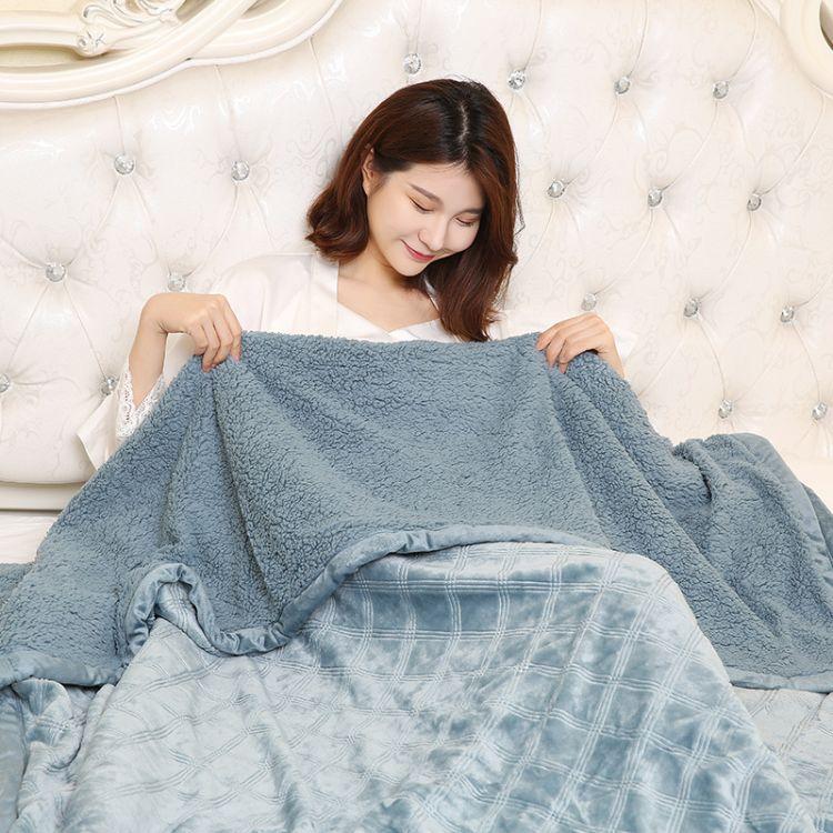 Lively毯子 双层加厚法兰绒空调毯仿羊羔绒 4-5斤重单双人保暖毯