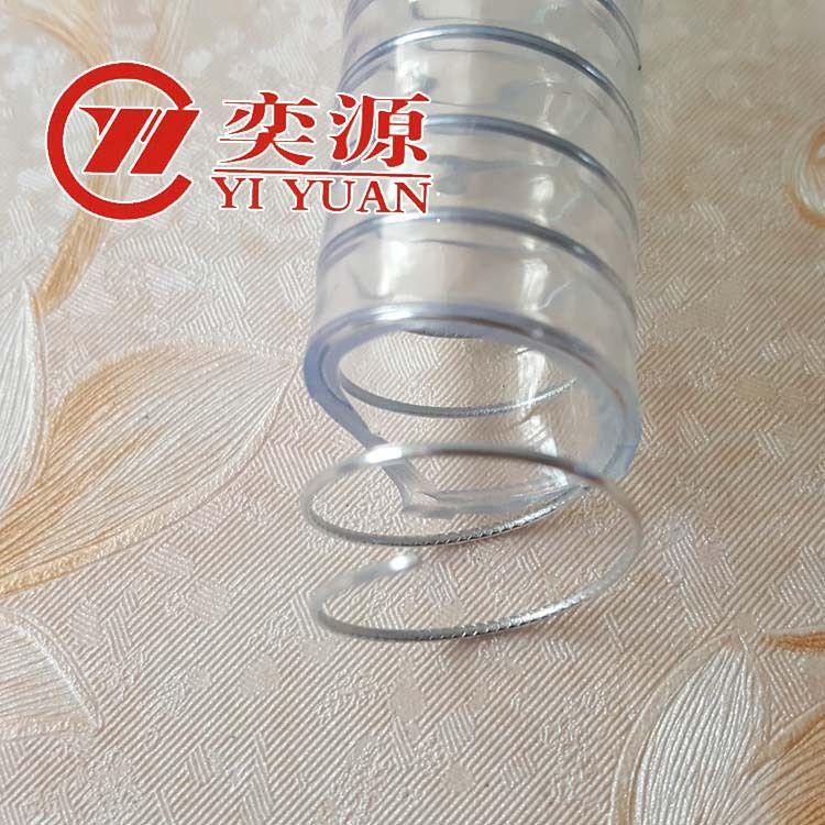 山东厂家批发钢丝管增强管 塑料钢丝软管 透明 pvc钢丝管直销