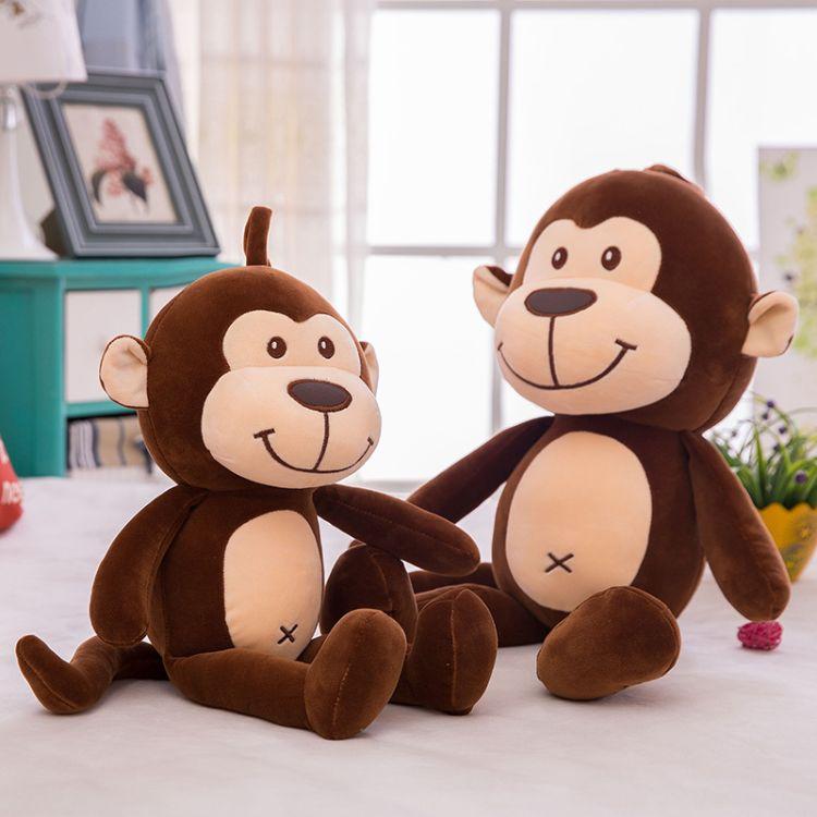 新款萌猴尚新猴赛雷可爱猴子跳跳猴毛绒玩具公仔儿童陪伴玩偶批发