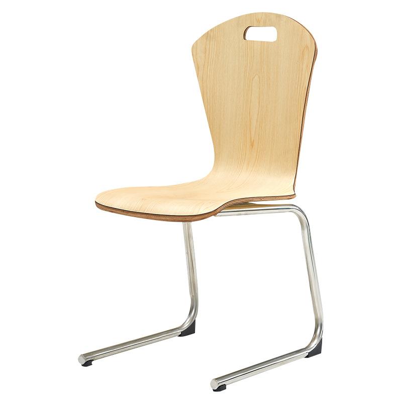 三朗家具现代休闲弯曲木特色创意餐椅咖啡店食堂餐厅靠背椅子批发