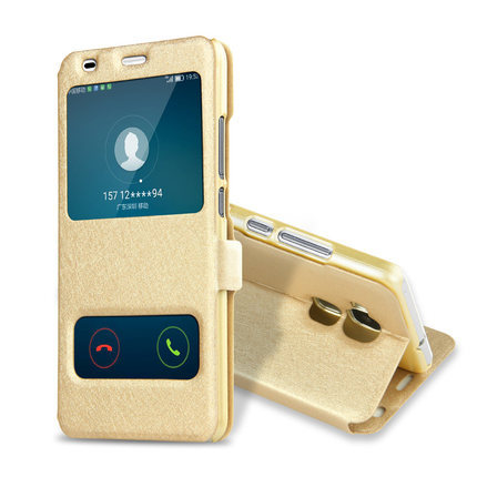 新品荣耀5C手机皮套双开窗皮套 翻盖手机套保护套 华为手机壳批发