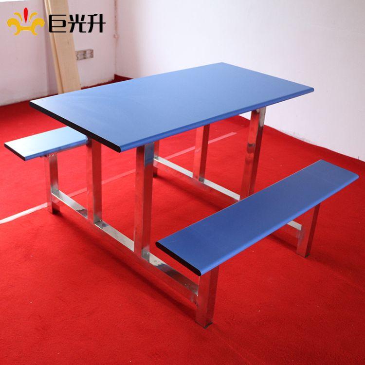 厂家直销学校食堂座椅连体条凳餐桌 家用客厅餐座椅组合
