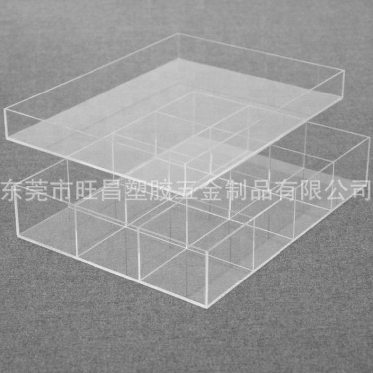 厂家直销 透明亚克力饰品收纳盒 天地盖零食亚克力盒子加工定制