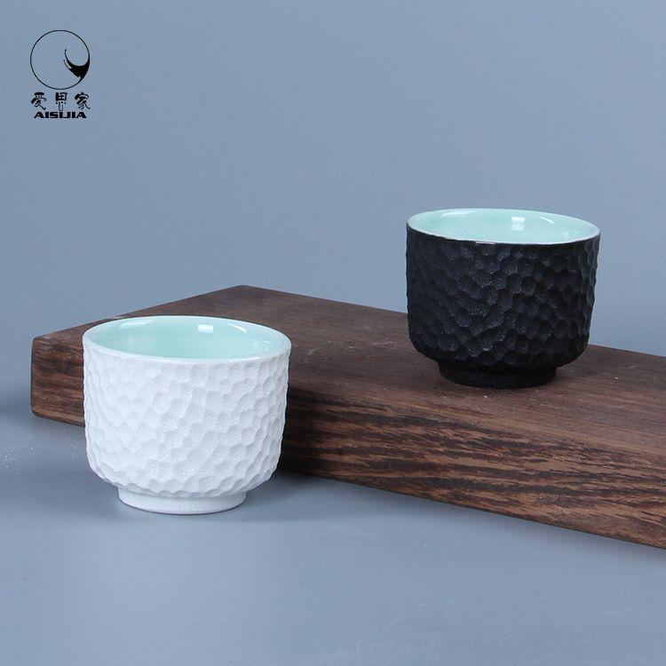 日式简约陶瓷蜂窝酒具系列蜂窝酒杯45ML个家用陶瓷酒杯酒具1两杯