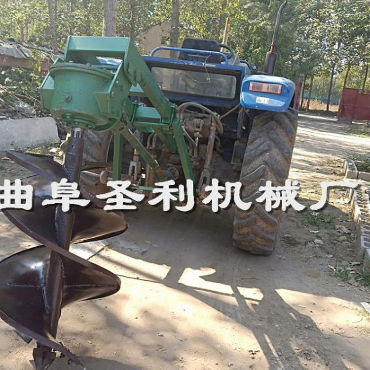 植树钻坑机 小四轮拖拉机挖坑机 打树坑机多少钱一台