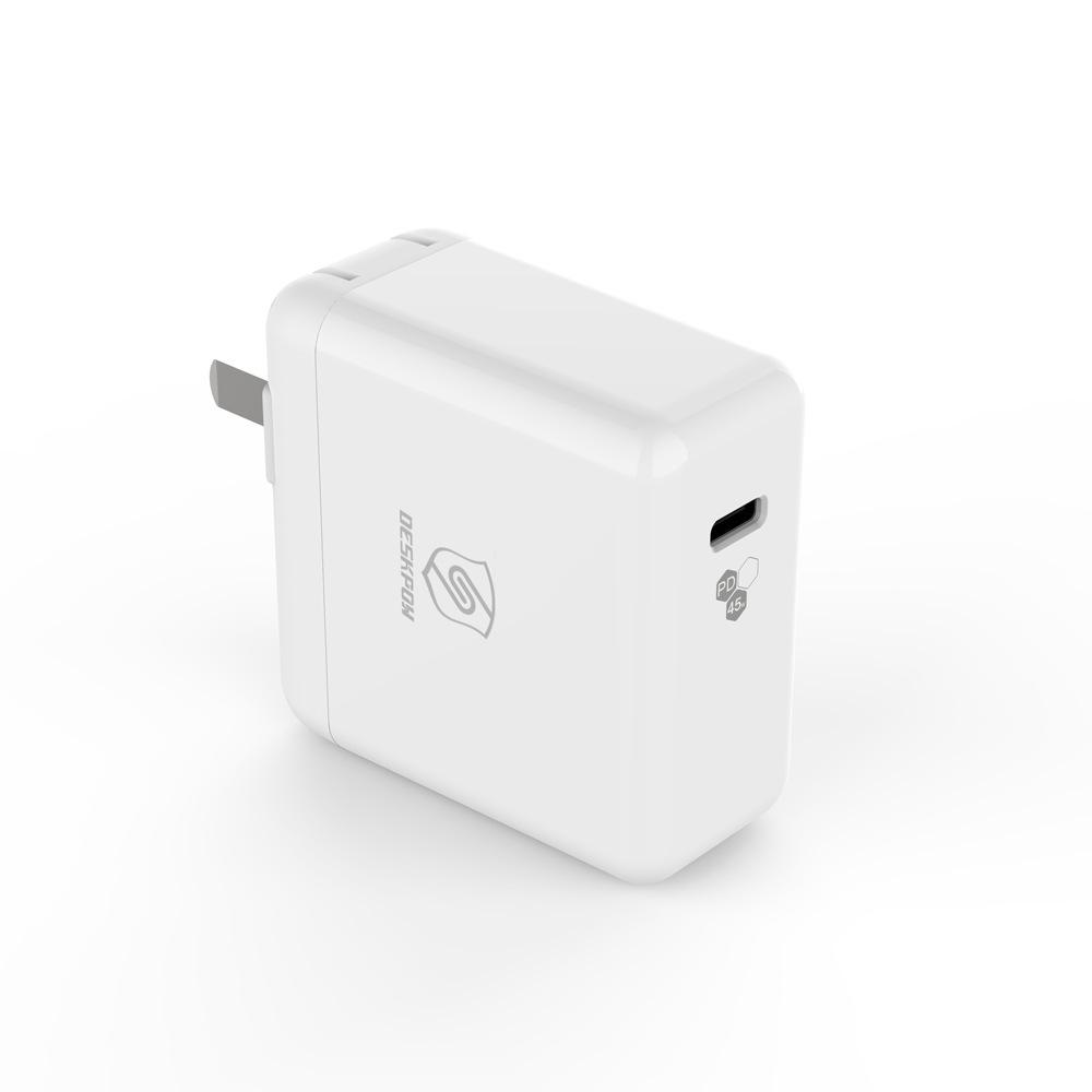 DESKPOW 新款私模TYPE-C带PD协议45W大功率单口旅充 工厂OEM贴牌