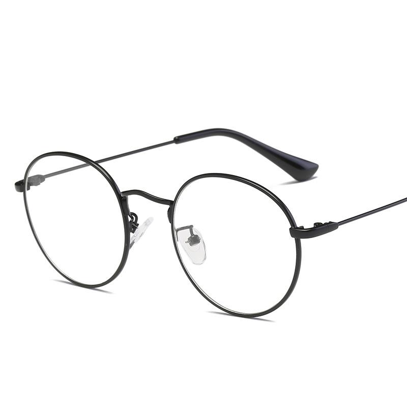 复古大框圆形眼镜框近视 金属韩版框架镜潮流平光镜眼镜架明星款