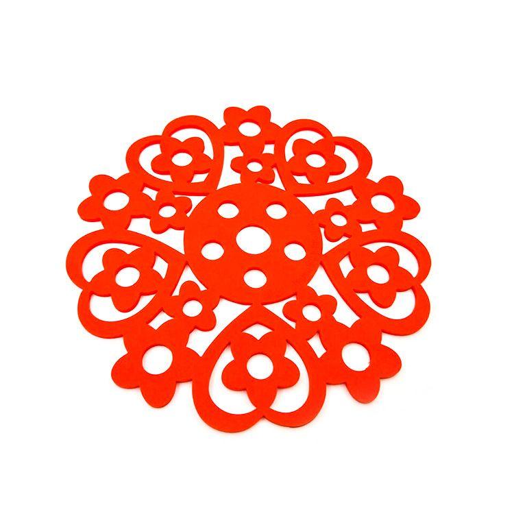 硅胶隔热垫餐桌垫盘垫碗垫锅镂空垫放烫餐垫防热盘子垫花朵形防滑