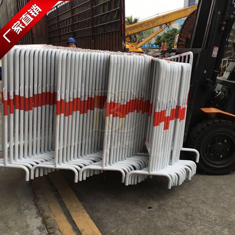 东莞博昌铁马护栏道路护栏 施工围栏可移动施工隔离栅 一体式铁马护栏