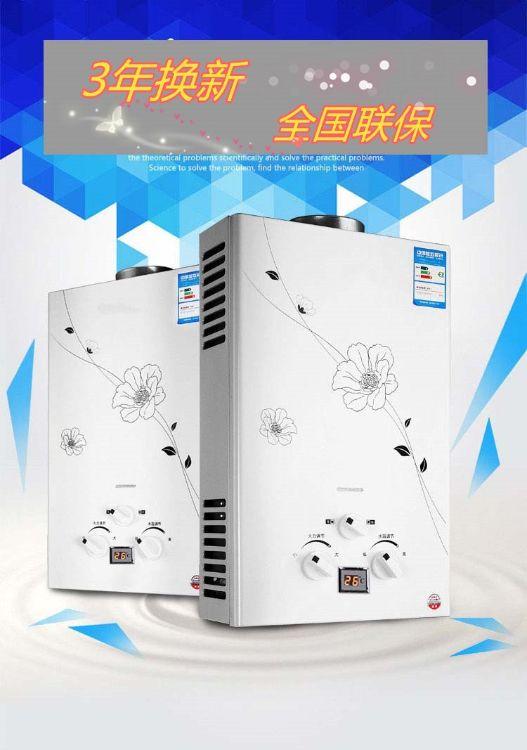 燃气即热式热水器6升液化气天然气12L烟道 直排式8升10升12升恒温