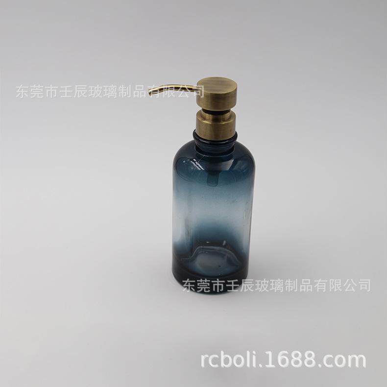 红云彩玻璃乳液瓶 按压型四方乳液瓶渐层喷色玻璃乳液瓶分装瓶