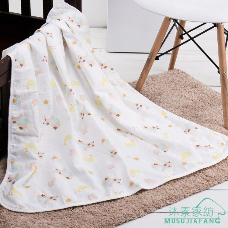 纯棉纱布婴幼儿高密度童被儿童卡通浴巾纱布盖毯印花毛巾被80081