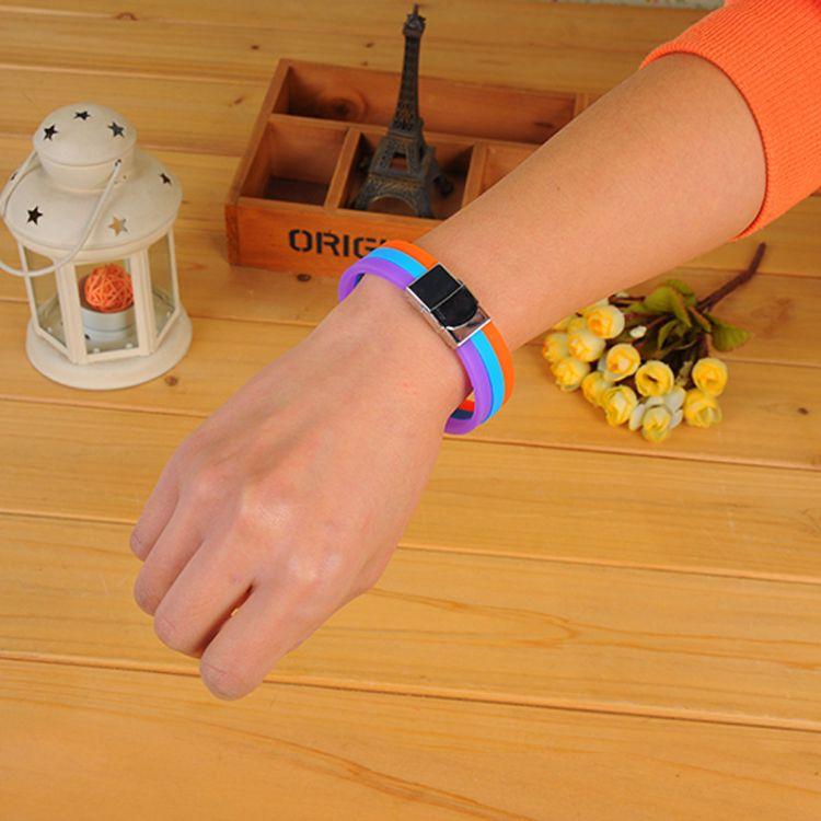 厂家直销多色手环 户外篮球运动手腕带欧美风硅胶手环 两色拼手环