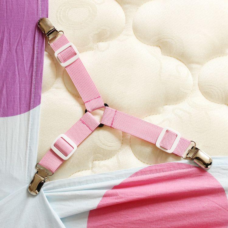 床单固定器 可调节沙发床单固定器桌布固定带 防跑防滑固定扣三头