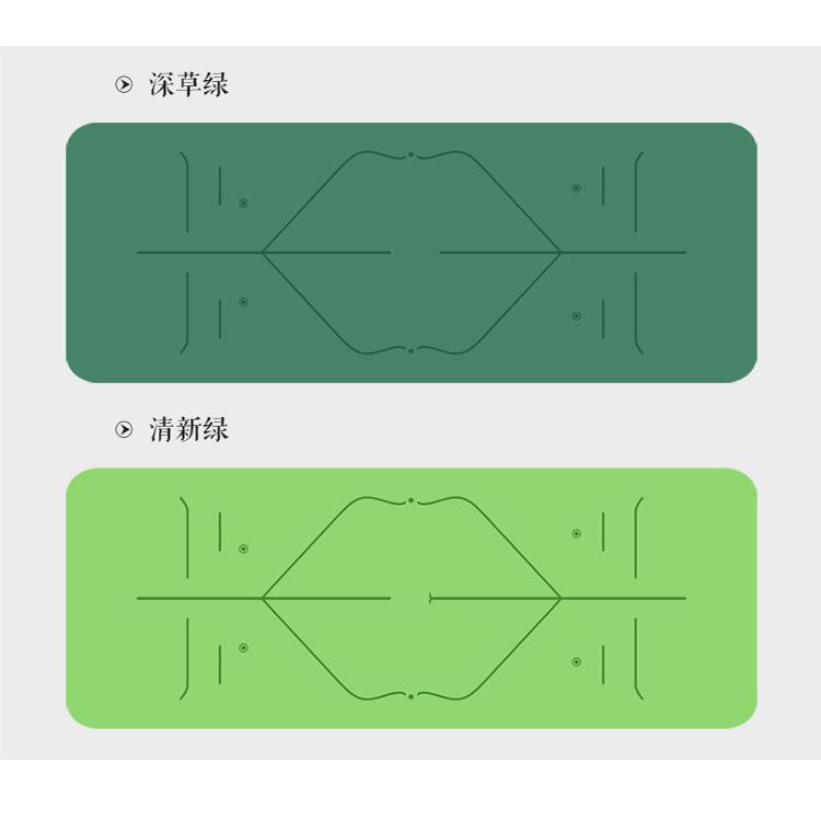 厂家定制LOGO环保橡胶+PU材质瑜伽垫 瑜伽土豪垫体位线瑜珈垫定制