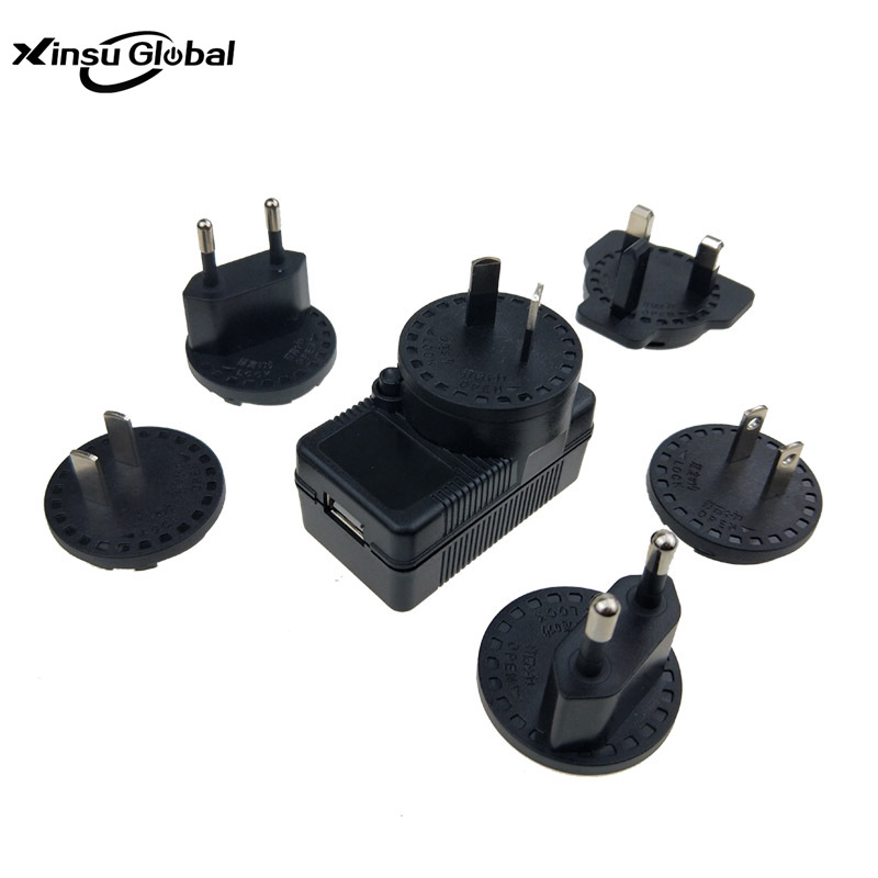 5v2.5a树莓派3代充电器 树莓派电源 多国插脚转换头电源适配器