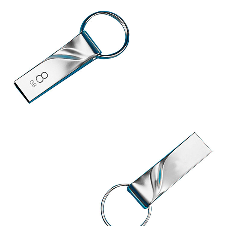 厂家直销激光雕刻定制公司私人logo USB2.0创意金属扭曲U盘