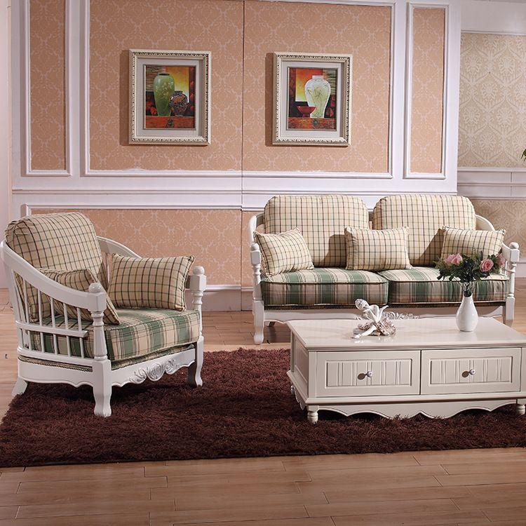 佛山实木沙发 地中海沙发组合 客厅实木沙发 厂家批发实木沙发