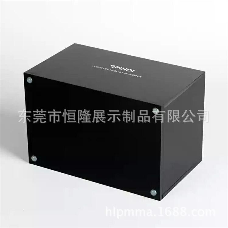 东莞厂家定制亚克力透明纸巾盒  亚克力黑色纸巾盒  单面磨砂板