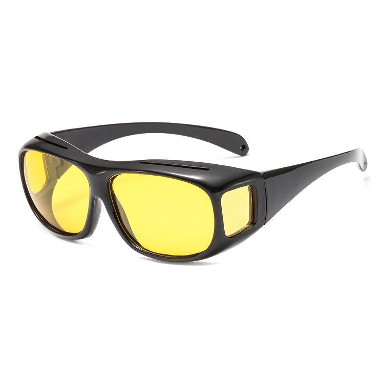 酷點抖音同款夜視鏡司機駕駛偏光鏡夜間開車鏡防遠光眼鏡夜視套鏡