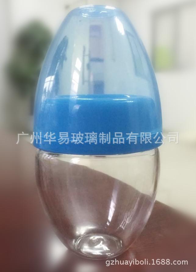 新款可爱晶钻玻璃奶瓶 吹制高硼硅玻璃奶瓶 不含双酚A 工厂OEM