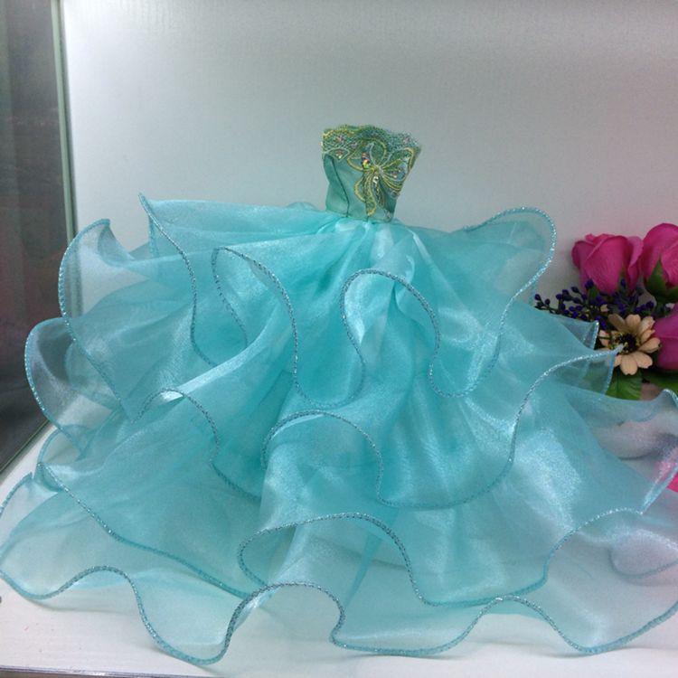30CM娃娃衣服手工娃娃婚纱礼服娃娃裙子换装娃娃婚纱女孩玩具批发