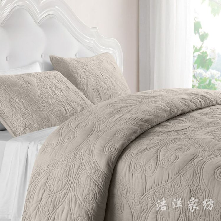 厂家批发床上用品绗缝纯棉三件套 纯棉三件套 一件代发