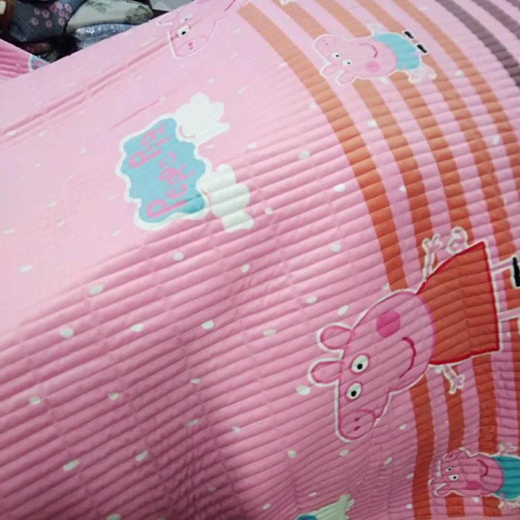 现货批发水晶绒多功能法莱绒被 多功能绗缝绗保暖花边毯 可盖可垫