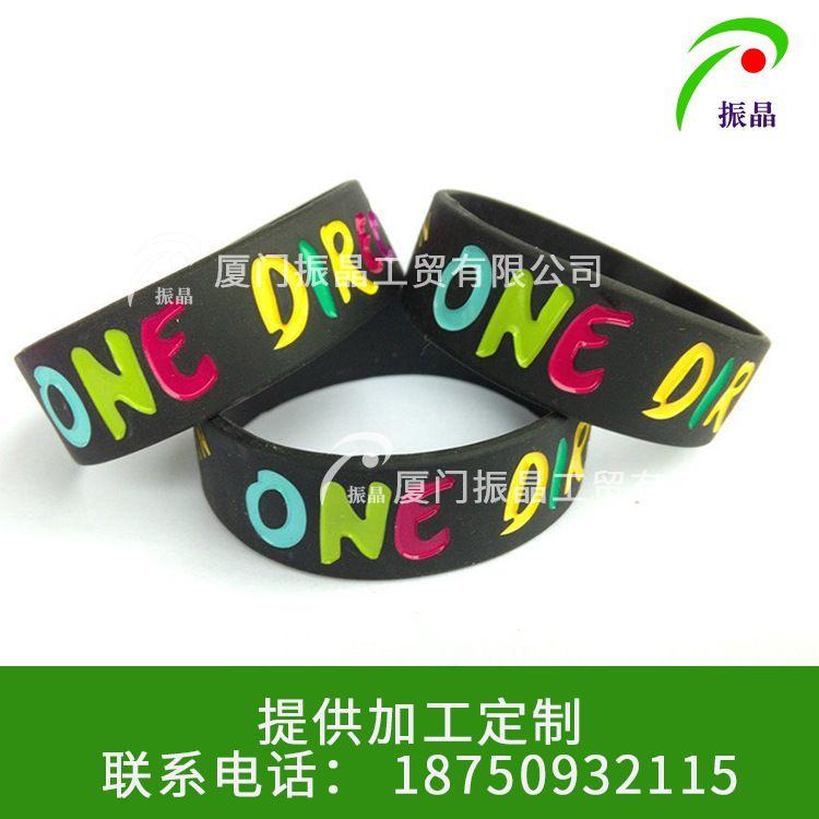 时尚硅胶手腕带  硅胶手环运动 儿童成人印刷 填色刻字订做