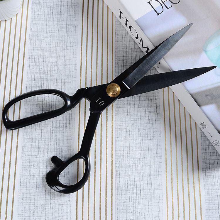 裁缝剪发黑缝纫机裁缝剪刀 多规格服装缝纫剪批发 柘荣剪刀