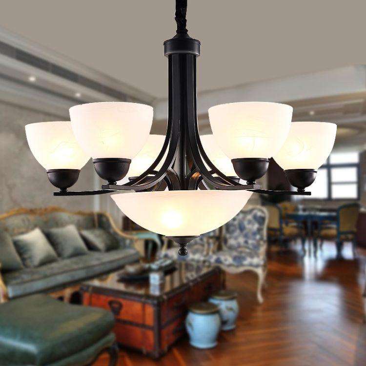 雷-士照明美式乡村吊灯 复古欧式餐厅吊灯创意客厅灯卧室灯具灯饰