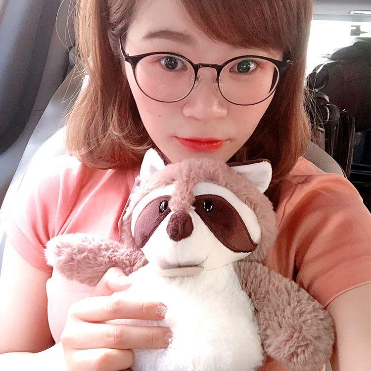 JSQ TOYS可爱浣熊毛绒玩具厂家优惠批发女孩生日礼物公仔布娃娃