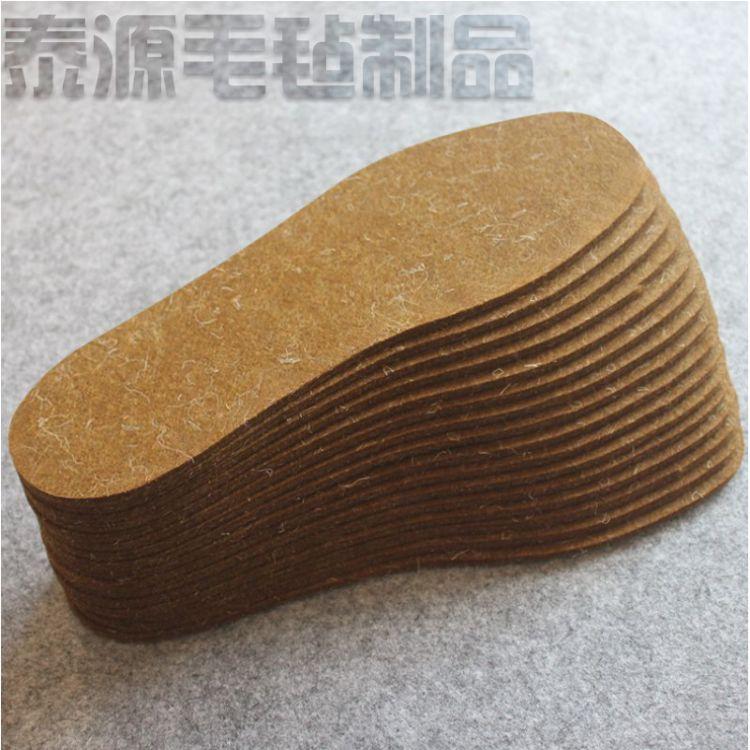 厂家定制驼绒毛毡鞋垫 吸排汗除臭加厚秋冬集市羊毛毡鞋垫批发