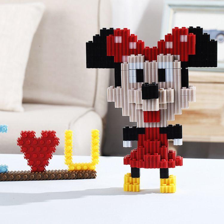 串联积木 儿童益智玩具 袋装大号砖石颗粒 diy拼装玩具 颗粒积木