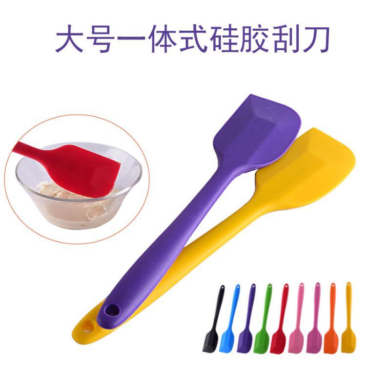 d加厚大号全包一体硅胶刮刀蛋糕橡胶牛奶油刮铲搅拌抹刀烘焙工具