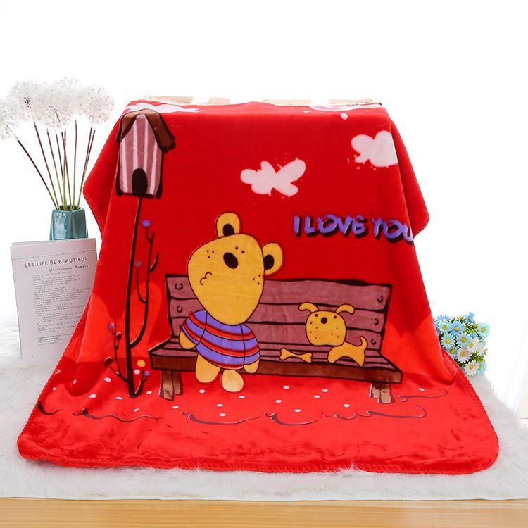 厂家直销 幼儿园超柔双层婴幼儿毯子家用空调毛毯礼品卡通云毯