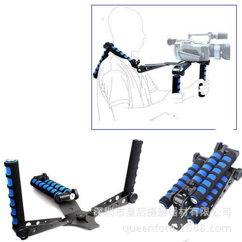 单反相机手持稳定器肩托架5D3 5D2 摄像机相机配件肩扛支架DV