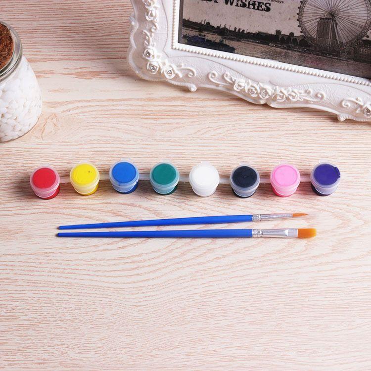 儿童搪胶彩绘颜料 8连体丙烯颜料 亚克力彩颜料 陶瓷颜料 2ml