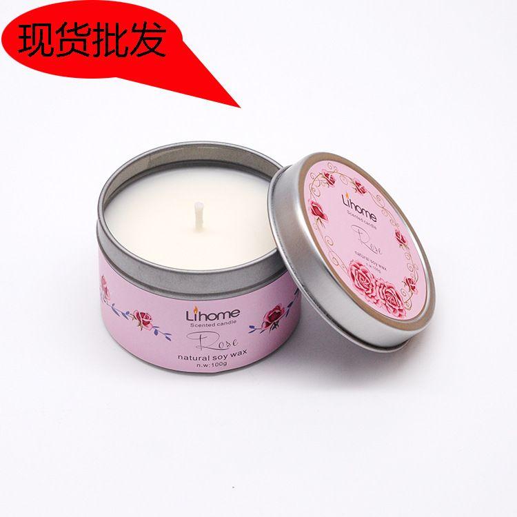 马口铁盒香薰蜡烛 厂家专业生产批发精油大豆蜡烛 伴手礼香味蜡烛