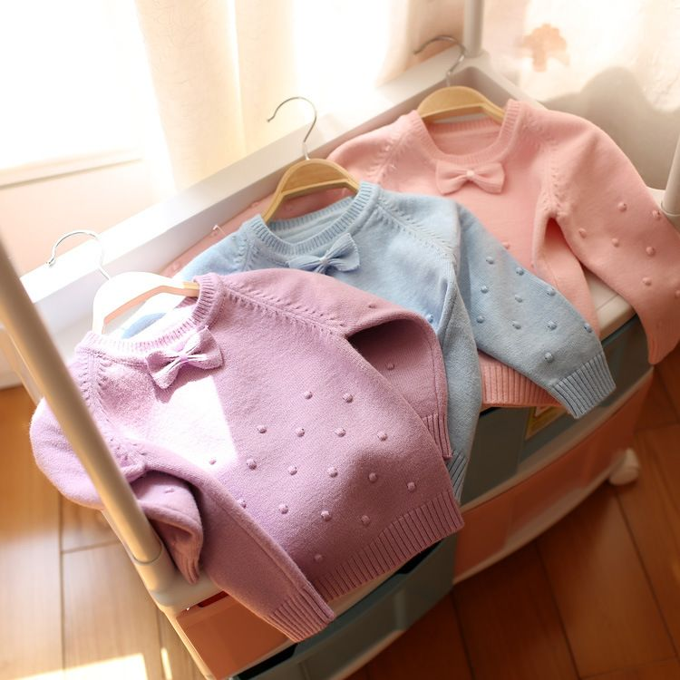 女童秋冬毛衣0-1-2-3岁韩版麻花女宝宝纯棉套头线衣婴幼儿上衣服